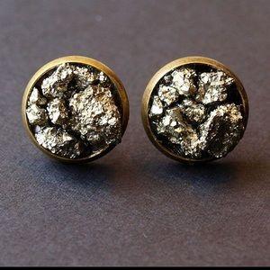 Jewelry - Pyrite Cluster stud earrings